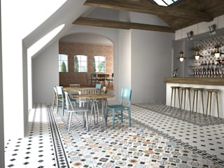 Modern living room by Gama Ceramica y Baño Modern