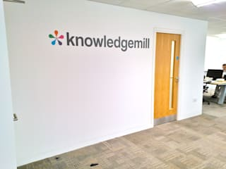 Workplace Graphics: KnowledgeMill by Vinyl Impression Modern