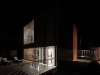 Casa Pátio, em Luanda, Angola Piscinas minimalistas por Alberto Vinagre, arquitectos, Lda Minimalista