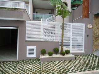 Residência Nádia & Pedro - Área externa: Casas  por Kátia Borges - arquitetura+interiores
