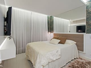 Спальня в стиле модерн от VITRAL arquitetura . interiores . iluminação Модерн