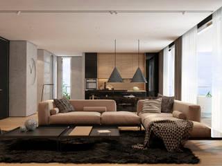 Tel Aviv apartment: Гостиная в . Автор – Diff.Studio, Минимализм