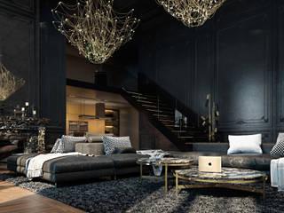 Paris apartment.: Гостиная в . Автор – Diff.Studio, Эклектичный