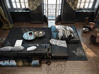 Paris apartment Salas de estilo ecléctico de Diff.Studio Ecléctico