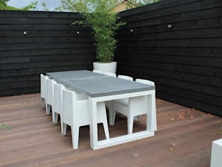 Betonnen tafel BARI steel & concrete Moderne kantoor- & winkelruimten van Ardworks BV Modern