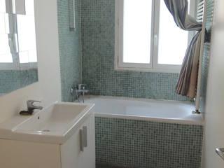 Avant : salle de bain - Appartement industriel chic & moderne 55m2 75010 Paris - Espaces à Rêver Espaces à Rêver