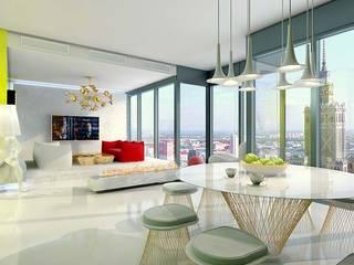 COSMO DESIGN: styl , w kategorii Salon zaprojektowany przez High Level Design Studio,