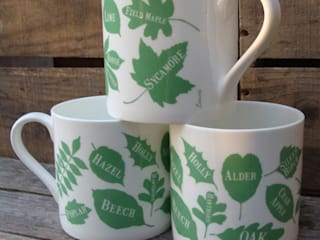 Leaves Mugs: modern  by A Farmer's Daughter, Modern