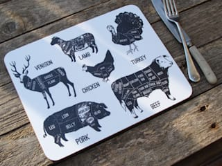 Melamine Meat Cuts Placemats:   by A Farmer's Daughter