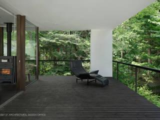 インナーテラス~035カルイザワハウス: atelier137 ARCHITECTURAL DESIGN OFFICEが手掛けたテラス・ベランダです。