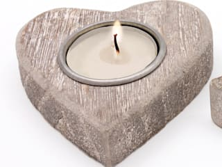 Wooden Heart Night Light Holder:   by ECP DESIGN LIMITED