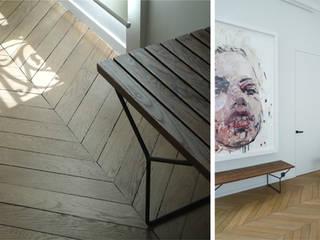 PARIS GEORGES VILLE Couloir, entrée, escaliers minimalistes par KTL Interiors by Kareen Trager-Lewis Minimaliste
