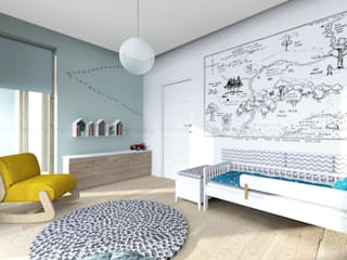 Scandinavian style nursery/kids room by Studio Malina Scandinavian