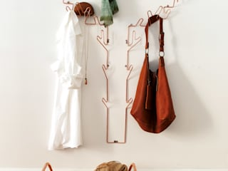 Tree Hanger, coat hanger & Anyone stool in copper. :   by Maze Interior