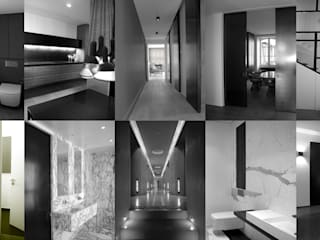 Aperçu Couloir, entrée, escaliers minimalistes par KTL Interiors by Kareen Trager-Lewis Minimaliste