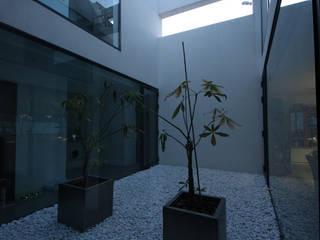 Patio interior Pasillos, vestíbulos y escaleras modernos de GOELIN ARQUITECTOS Moderno