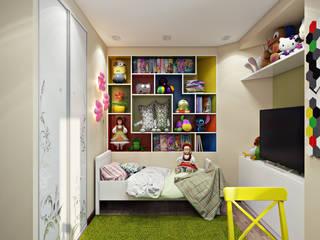 Проект 010: детская + ванная: Детские комнаты в . Автор – студия визуализации и дизайна интерьера '3dm2', Минимализм