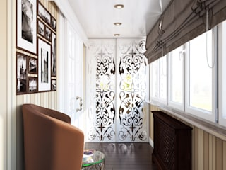 Проект 013: лоджии + ванная: Tерраса в . Автор – студия визуализации и дизайна интерьера '3dm2', Классический