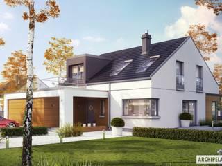 Projekt domu Edgar II G2 ENERGO PLUS Nowoczesne domy od Pracownia Projektowa ARCHIPELAG Nowoczesny