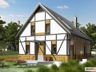 Projekt domu EX 15 Nowoczesne domy od Pracownia Projektowa ARCHIPELAG Nowoczesny