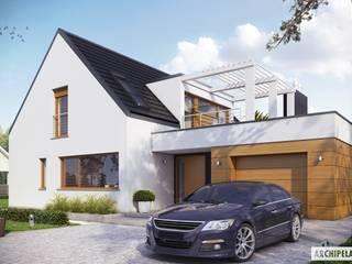 Projekt domu Neo G1 ENERGO Nowoczesne domy od Pracownia Projektowa ARCHIPELAG Nowoczesny