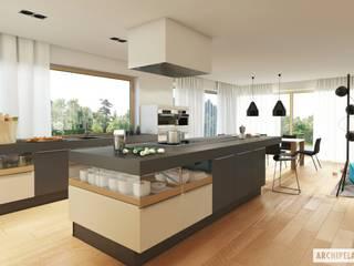 Projekt domu Neo G1 ENERGO : styl , w kategorii Kuchnia zaprojektowany przez Pracownia Projektowa ARCHIPELAG