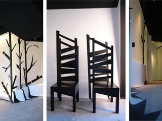 Zona de recepción y espera + pasillo distribuidor:  de estilo  de euskaldiseinu estudio