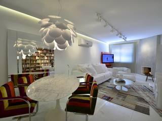 Projekty,  Salon zaprojektowane przez karen feldman arquitetos associados, Minimalistyczny