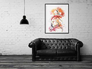 Plakat Kobieta z perfumą: styl , w kategorii Ściany i podłogi zaprojektowany przez 4rooms.com.pl
