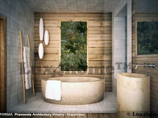 Bathroom ideas - Beige Pebbles mosaic manufacturer / producer & Exporter: asian Bathroom by Lux4home™ Indonesia