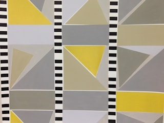 80s geometric wallpaper : eclectic  by SHARON JANE, Eclectic
