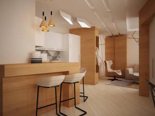 Vera Rybchenko Moderne Wohnzimmer