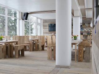 Clubgaststätte Schwimm-/ Yachtclub, Düsseldorf Landhaus Gastronomie von arieltecture Gesellschaft von Architekten mbH BDA Landhaus