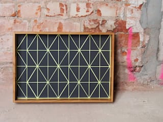 Tablett TRIANGLE neon yellow:   von helmuth