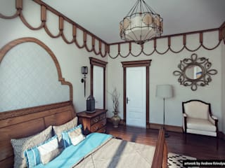 Bedroom: Спальни в . Автор – Андрей Кривуля, Рустикальный
