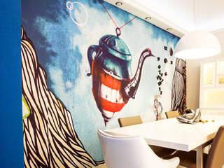 Вход в кухню - столовую: Столовые комнаты в . Автор – Nika Loiko Design