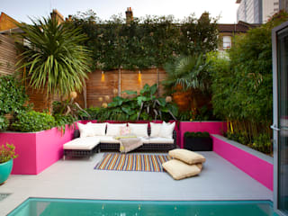 Battersea Basement & Full Refurbishment Giardino in stile mediterraneo di Gullaksen Architects Mediterraneo