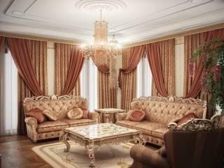 Гранатный переулок дом 6 Гостиная в классическом стиле от Premier Dekor Классический