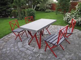 Ogrodowe stoły, krzesła, komplety: styl , w kategorii  zaprojektowany przez Stańczyk Konstrukcje