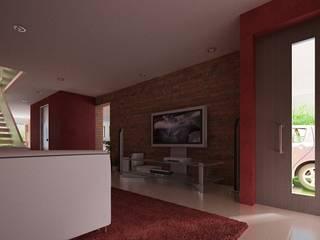 Casa Moralidad Salas multimedia modernas de RTstudio Moderno