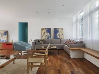 Cerejeira Agência de Arquitetura Ruang Keluarga Modern