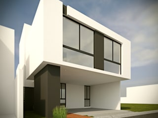 Fachada Principal Opción B: Casas de estilo  por RTstudio