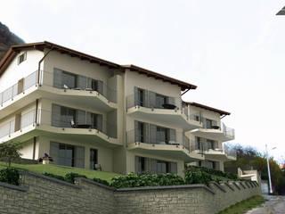 Complesso residenziale ad Argegno (lago di Como) Case in stile mediterraneo di Arienti Design Mediterraneo