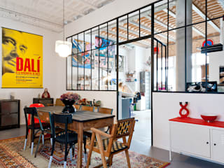 Loft Bordeaux Salle à manger industrielle par Marie Dumora Industriel