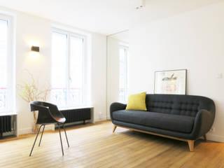 Pied-à-terre Parisien pour 3 dans un 31 m2 Studio Pan Salon scandinave