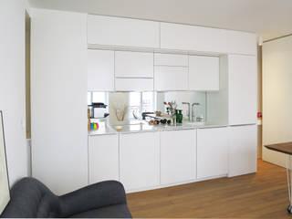 Pied-à-terre Parisien pour 3 dans un 31 m2 Studio Pan Cuisine moderne