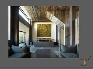 modernes Alpenchalet: moderne Wohnzimmer von CK-Möbelmacher