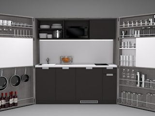 Pop-up kitchen PIA - LTE 1 de Dizzconcept Moderno