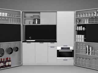 Pop-up kitchen PIA - LTE 2 de Dizzconcept Moderno