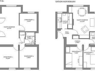 Reforma piso de 43m² útiles. de beatriz gala reformas e interiorismo Minimalista